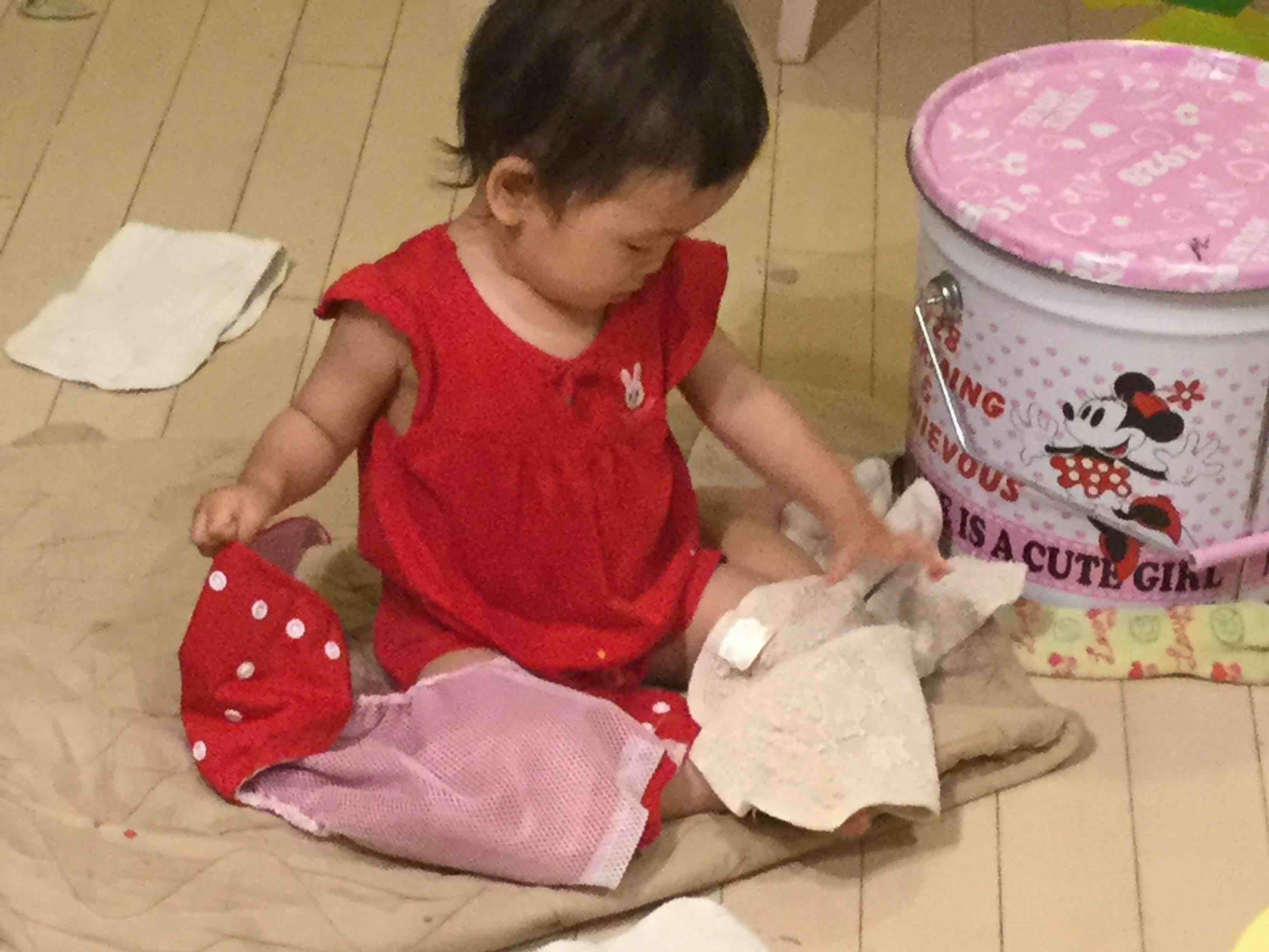 おむつなし育児はおむつを使う
